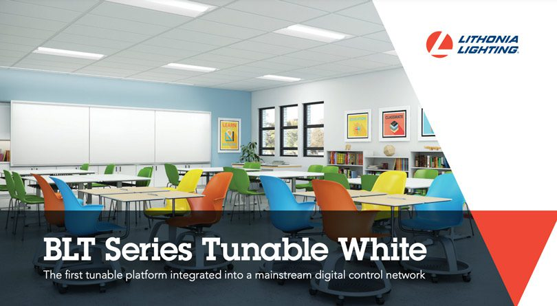 BLT series tunable white by Lithonia Lighting in classroom