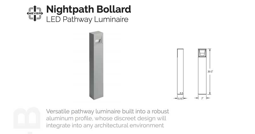 TLA New Manufacturers Spotlight: Nightpath Bollard by Meyer from the The Lighting Quotient family