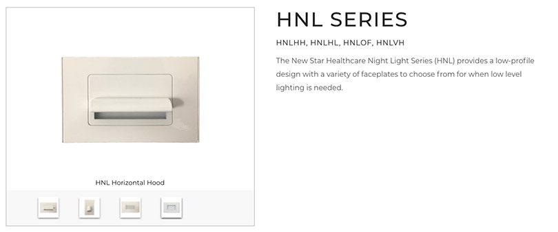 The New Star Healthcare Night Light Series from Acuity