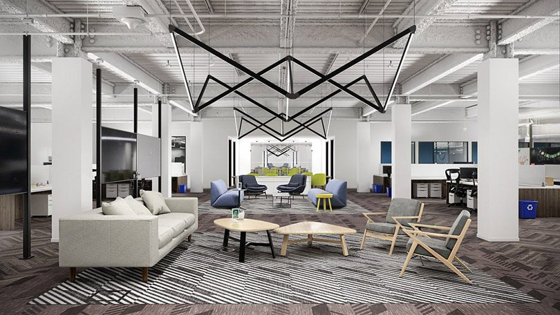 The Joint by Coronet as featured in an open-concept flexible office space
