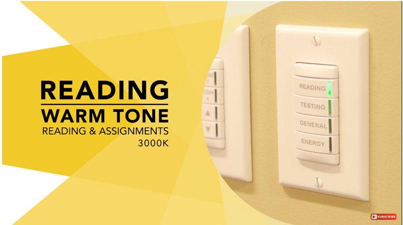 Warm tone LED lighting for reading